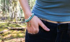 Made from real gemstone these trendy beaded bracelets mix fashion with your love for all things wild. All Things Wild, Turquoise Bracelet, Beaded Bracelets, Charmed, Gemstones, Accessories, Jewelry, Fashion, Moda