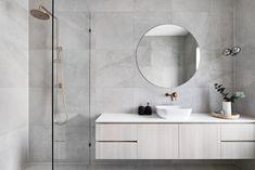 Home Tour - Grange Road Residence by Scope Building Solutions Grey Bathrooms, White Bathroom, Small Bathroom, Master Bathroom, Glitter Bathroom, Bathrooms Decor, Bathroom Taps, Bathroom Ideas, Toilette Design