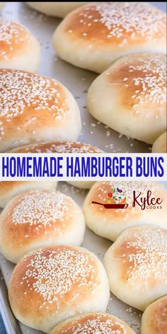 Homemade Hamburger Buns – these soft rolls are so easy to make, taste amazing and go perfectly with burgers! Make these ahead for burger night! Homemade Burger Buns, Homemade Hamburgers, Soft Burger Buns Recipe, Homemade Bread Buns, Best Burger Buns, Homemade Yeast Rolls, Homemade Breadsticks, Easy Bread, Bread Machine Recipes