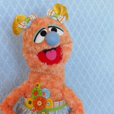 Puppet - Professional Puppet Girl - Molly Monster - Handmade Muppet-Style Hand/Rod Puppet - Puppeteer - Soft Doll - Teachers Resource