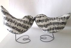 Sweet Music Birds Wedding Cake Topper by BeaconHillCollect on Etsy, $49.95