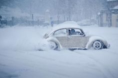 I loved my Bug in the snow!  Miss that car!
