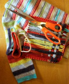 What a neat way to keep an old sentimental sweater around that is too worn out or doesn't fit.