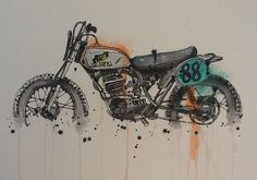Trying to track down the creator of this so I can have them train me. Like karate kid, but with motorcycle paintings.