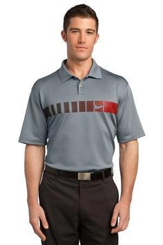 Nike Golf Dri-FIT Chest Stripe Print Polo. 443211  #golf #golfshirt #nikegolf