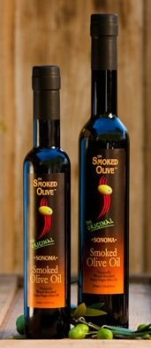 Smoked olive oil from 'The Smoked Olive'. Great for dipping, drizzling, grilling - anything!! Also a great gift. Available online and at Williams Sonoma stores nationwide.