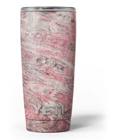Red Slate Marble Surface V40 Yeti Rambler Skin Kit from DesignSkinz