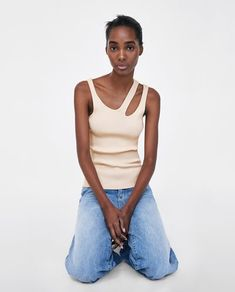 MINIMAL COLLECTION TOP WITH CUT-OUT DETAIL-View All-SHIRTS | TOPS-WOMAN | ZARA United States