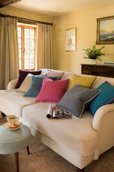 Beautiful plain fabric colors are enough to make your home feel warm! Call us on 01-683020 for more info.  #Skaff #SkaffGroup #Decor #HomeDesign #Interior #fabric
