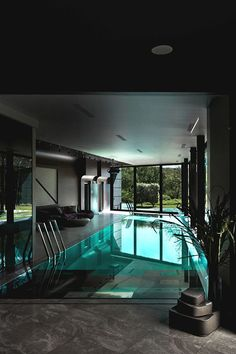 The most amazing luxury homes ever: brilliant architecture and brilliant interior design project Luxury Pools, Modern Pools, Indoor Swimming Pools, Pool Houses, House Goals, Pool Designs, Modern House Design, Home Modern, Modern Luxury