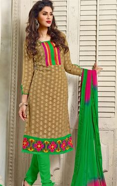 Beautiful Beige Color Casual Salwar Kameez