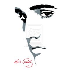 Elvis Face Silhouette ... pic source