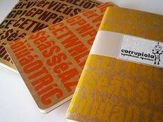 Letterpress Notebook by corrupiola on Etsy, $8.00