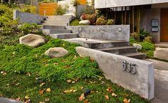 Entry Steps - contemporary - landscape - los angeles - MAGDALENA GLEN-SCHIENEMAN, AIA