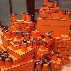 Hermes boxes/My favorite Orange.