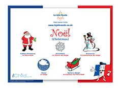 Learning a foreign language is a perfect way to introduce your child to different countries and cultures. Have fun learning these Christmas words in French and English! Ways Of Learning, Learning Spanish, Kids Learning, Spanish Class, Spanish Words, French Words, Christmas Words, French Christmas, Learn French Fast