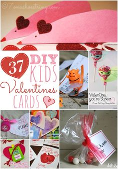37 DIY Kids Valentines Cards #ValentinesDay