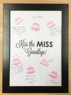guess the kisses bachelorette party game idea