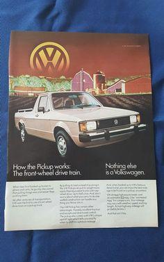 vintage Volkswagen truck advertisement