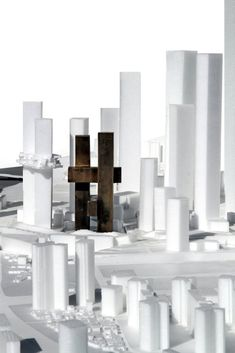 Image 3 of 17 from gallery of Cross # Towers / BIG. Courtesy of BIG Chinese Architecture, School Architecture, Architecture Details, Modern Architecture, Architecture Models, Big Architects, Famous Architects, Steel Structure Buildings, Study Room Design