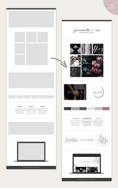 Mood Board Template Bundle - Vol. 1 by amber&ink on Website Design Inspiration, Graphic Design Inspiration, Page Design, Layout Design, Design Design, Photoshop Program, Editorial Layout, Brand Board, Site Internet