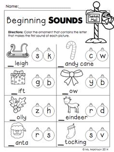 math worksheet : 1000 images about beginning sound worksheets on pinterest  : Christmas Phonics Worksheets Kindergarten