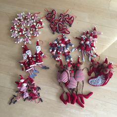 NAVIDAD EN ROJO – adornos arbol de navidad de tela #navidad #arboldenavidad #rojo #deco #christmas #christmastree #christmasdeco #letsdiy