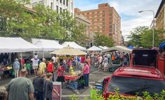 Historic Downtown offers a farmers market, boutique shopping, historic buildings, and the iconic, 70\u002Dfeet\u002Dhigh Skypoint, the epicenter of the citys Strawberry Festival, Christmas Stroll, and more. (Courtesy Visit Billings) (From: Meet Montana\u0027s Urban Trailhead)