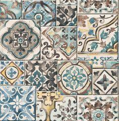 Dutch Reclaimed behang FD22315 Marrakesh Tiles