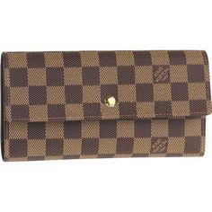 Louis Vuitton Damier Ebene Canvas International Wallet N61217 Aih