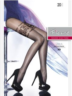 20 DEN Fiore Womens Ozana//Golden Line Classic Hold up Stockings