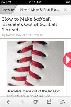 How to make a real softball headband