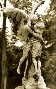 "Angelo Statue can visit the marker on the grave where your father wept openly."" -Barbara Ras @ the poetrycooker Cemetery Angels, Cemetery Statues, Cemetery Art, Cemetery Monuments, Angels Among Us, Angels And Demons, Bel Art, Old Cemeteries, Graveyards"