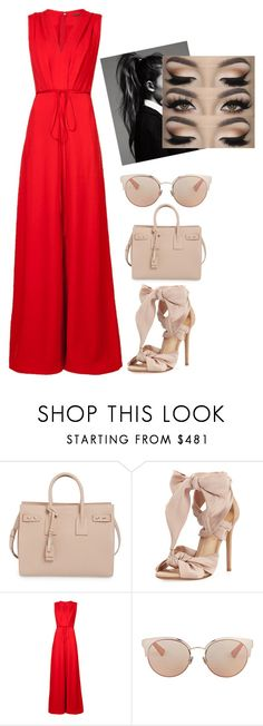 """Colors of Love"" by abell1219 ❤ liked on Polyvore featuring Yves Saint Laurent, Alexandre Birman, ADAM and Christian Dior"