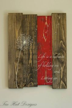 Reclaimed rustic pallet wood sign Life is a di TinHatDesigns