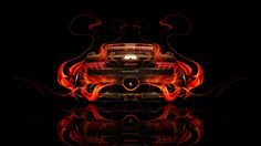 Lamborghini Gallardo Back Fire Abstract Car 2014 HD