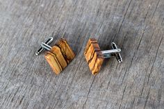 WOODEN CUFFLINKS Square Spalted OLIVE Wood Wedding Cufflinks | Mens Wood Cuff Links | Groom Cufflinks | fathers day