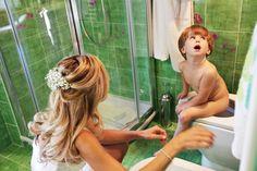 intimità da bagno.... anche i piccoli si preparano...