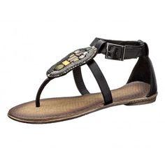 Sandalen zwart met kralen 38 40 41
