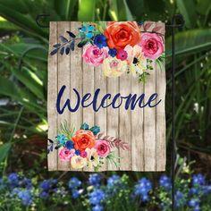 Wood Pallet Art, Wood Art, Wood Crafts, Diy Crafts, Painted Boards, Name Plate Design, Garden Flags, Spring Crafts, Bottle Crafts