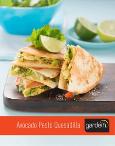 Avocado Pesto Quesadilla. #Recipe: http://gardein.me/cincodemayo #cincodemayo
