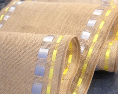 Items similar to Burlap Ribbon Table Runner - Premium Burlap - wide by long Natural Burlap - Holiday - Wedding or Party - burlap runners on Etsy Burlap Projects, Diy Projects, Kitchen Liners, Diy And Crafts, Arts And Crafts, Crochet Table Runner, Diy Gifts, Handmade Gifts, Burlap Ribbon