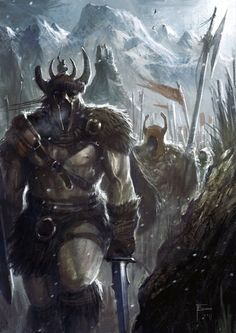 Barbarian March by TomEdwardsConcepts on deviantART-- old travels with Magus friends (D in front)