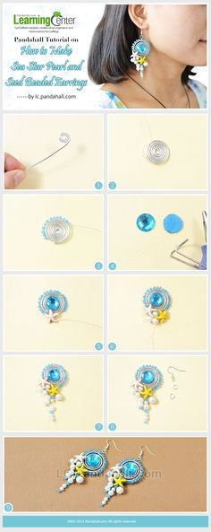 Pandahall Tutorial on How to Make Sea Star Pearl and Seed Beaded Earrings