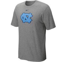 Nike North Carolina Tar Heels (UNC) Classic Logo T-shirt - Ash - FansEdge.com