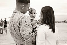 So cute. (military,love,couple,family,baby)
