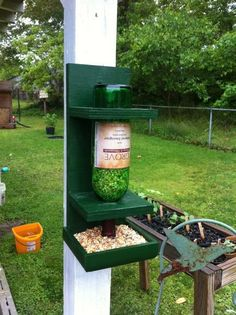 A great use for those empty bottles from my favorite winery in Gibsonville, NC
