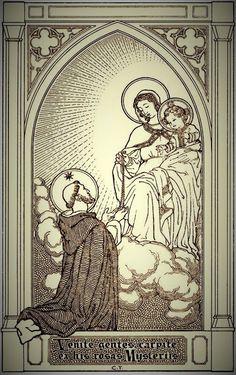 Catholic Religion, Catholic Art, Catholic Saints, Roman Catholic, Religious Art, Madonna, Sacred Heart Tattoos, Saint Dominic, Bible Illustrations