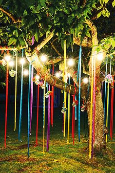 Celebrating outdoor birthday parties are one of the most fun filled events but you can make it look very interesting by appropriate décor styles. When planning for a kid's birthday party you can ad… Beltane, Festival Wedding, Festival Party, Festival Lights, Food Festival, Summer Party Decorations, Wedding Decorations, Outdoor Birthday Decorations, Festival Decorations
