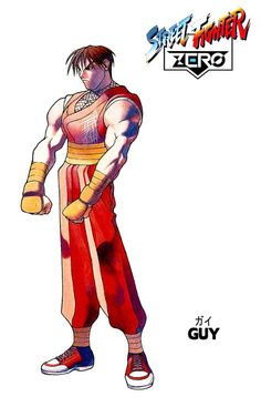 Street Fighter ZERO - Guy Street Fighter Tekken, Street Fighter Game, Street Fighter Alpha, Retro Arcade Games, World Of Warriors, Street Fights, Nostalgia, Geek Art, Fighting Games